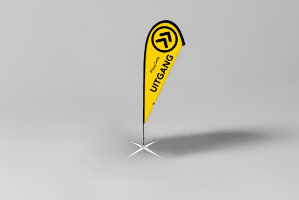 SDBF00102_Beachflag-Uitgang-zwart-geel