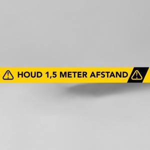 markeringssticker - Houd 1,5 meter afstand - rechthoekige sticker.