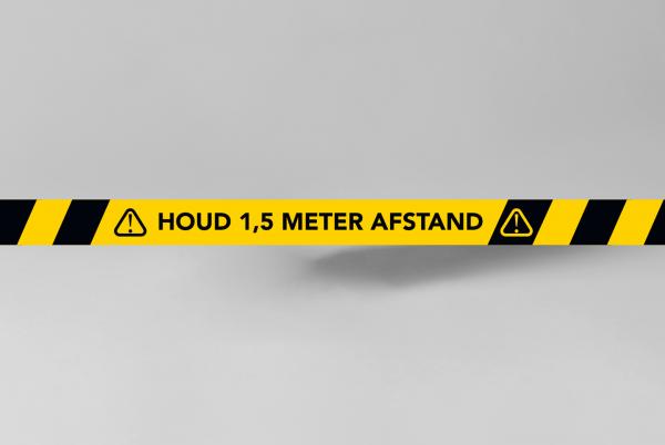 SDSNL00106-Vloersticker-vloer-markerings-sticker-147cm-x-5cm-geel-zwart