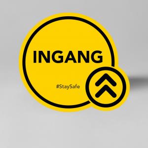Ingang - Social distancing vloersticker / raamsticker.
