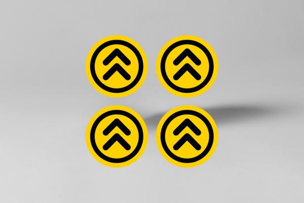 SDSNL00114-stickerset-pijlen-rond-13cm-x-13cm-geel-zwart