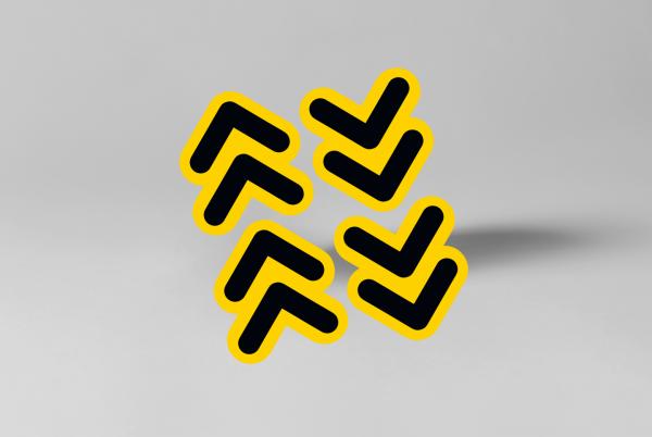 SDSNL00115-stickerset-pijlen-contour-rond-9-5cm-x-10-5cm-geel-zwart
